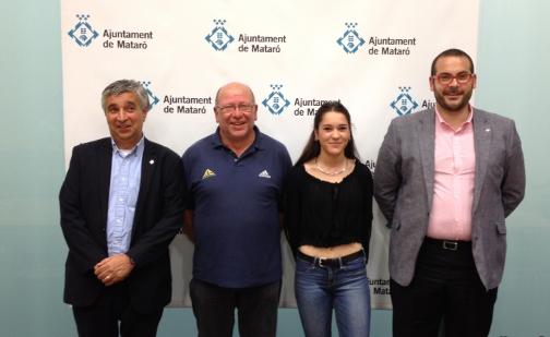 De izquierda a derecha, Josep M. Font, Xavier Grau, Sara Dorda y David Bote. Foto: Ayuntamiento de Mataró