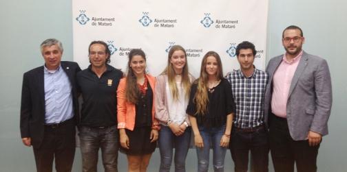 Esq. a derecha: Josep M. Font, Arseni Sañé, Anna Roble, Inés Fanlo, Marta Dorda, Jaume Aceña y David Bote