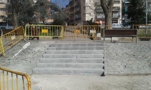 La nueva escala, que hace más cortos itinerarios dentro del parque. Foto: Ayuntamiento
